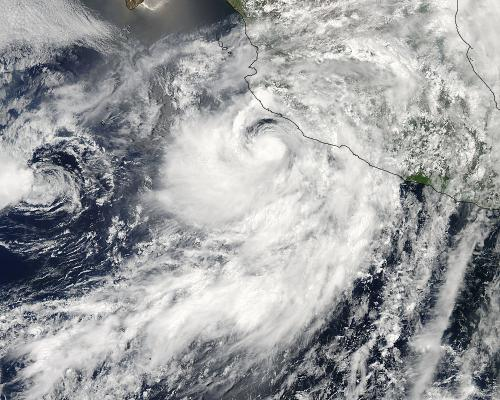NASA's TRMM satellite sees Tropical Storm Erick along Mexican coast
