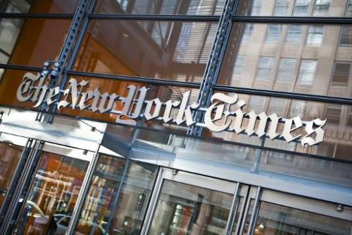 The headquarters of The New York Times is pictured on April 21, 2011 in New York City