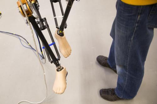 Two-legged robot walks outside at U-Michigan
