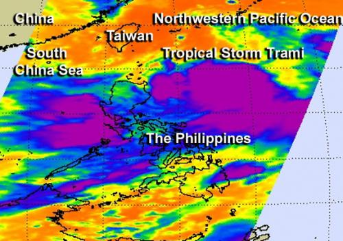 NASA sees Tropical Storm Trami U-turning