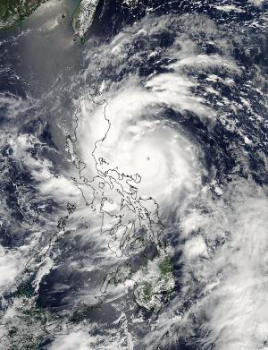 NASA satellites capture Super-Typhoon Utor before and after landfall
