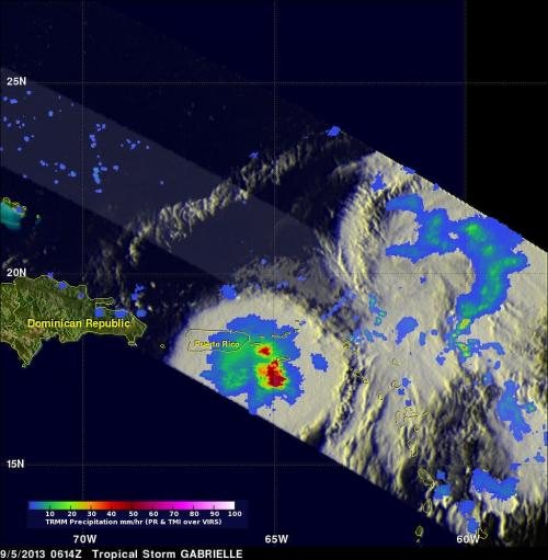 NASA satellites and HS3 Mission cover Tropical Storm Gabrielle's demise, watch other areas