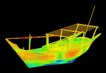 3-D laser scanning of dhows in Doha