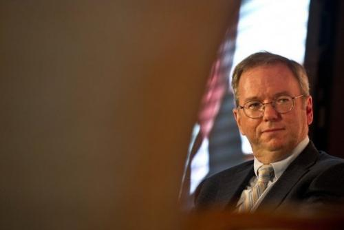 Google chairman Eric Schmidt, pictured in New Delhi, on March 20, 2013