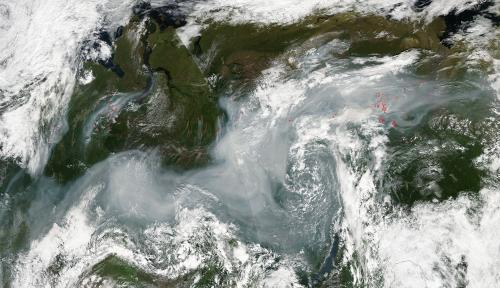 Fires in eastern Russia -- Urals and Siberia
