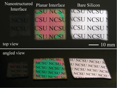 Moth-inspired nanostructures take the color out of thin films