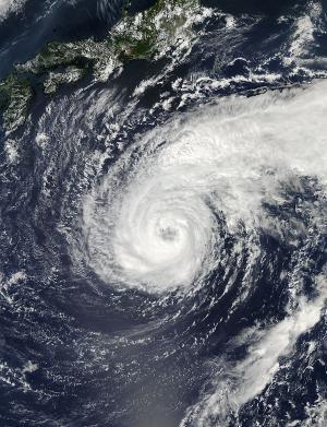 NASA sees Typhoon Pabuk's veiled eye