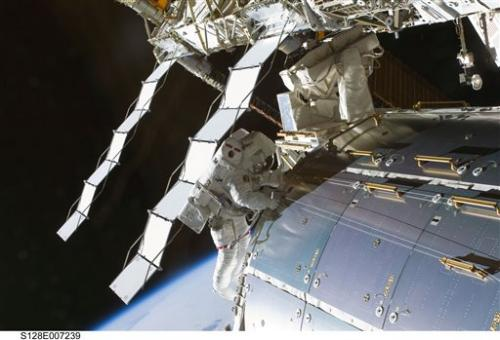 Spacewalking astronauts hope new pump stops leak