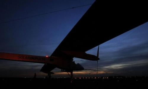 The Solar Impulse, a solar-powered aircraft, is pictured after landing at Brussels Airport, in Zaventem, May 13, 2011