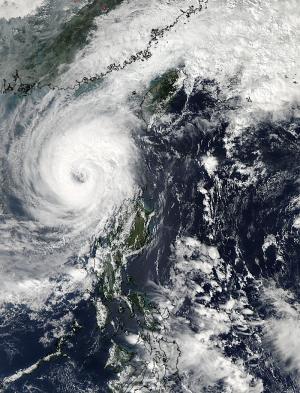 NASA satellite catches a wide-eyed Typhoon Krosa