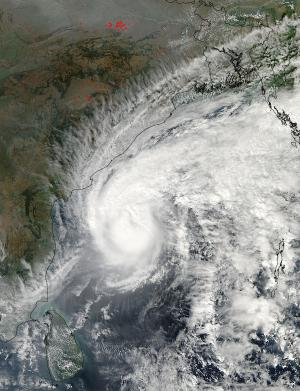 NASA sees Tropical Cyclone Madi nearing India's east coast