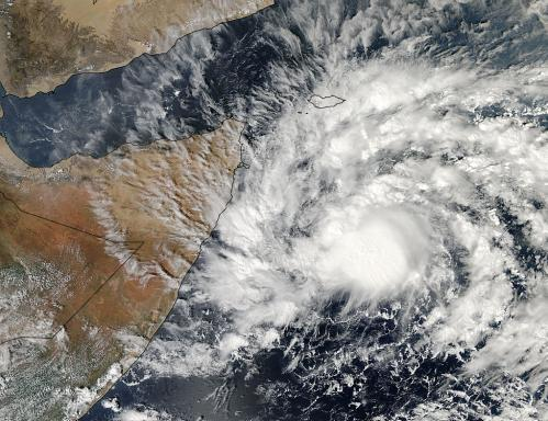 NASA satellites see Cyclone 03A make landfall in Somalia