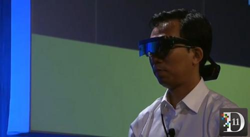 Atheer Labs demos 3-D virtual object-manipulation goggles