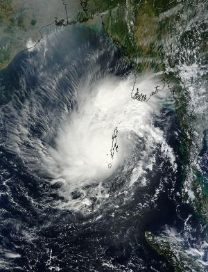 NASA catches Tropical Cyclone Lehar over the Andaman Islands