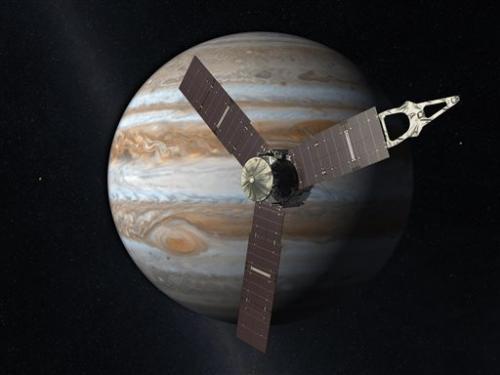 NASA spacecraft zips by Earth en route to Jupiter