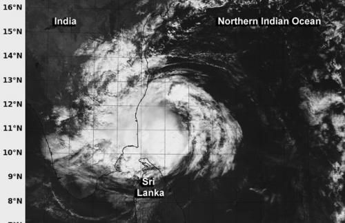 NASA satellite sees Tropical Cyclone Madi make landfall in southeastern India