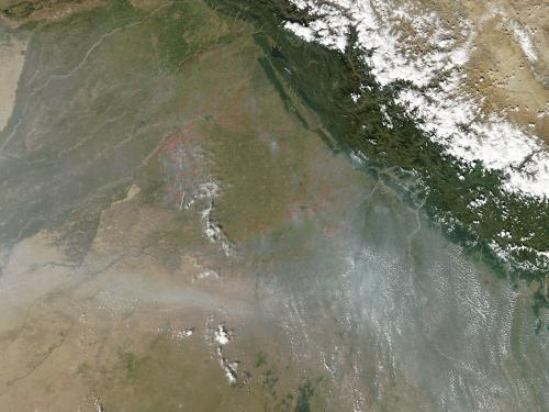 Agricultural fires in India October 18, 2013