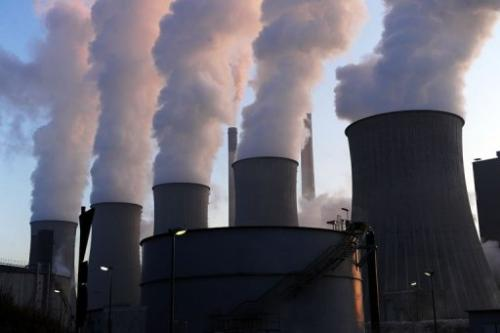 Cooling towers at the Scholven coal-fired power plant in Gelsenkirchen, western Germany on January 16, 2012