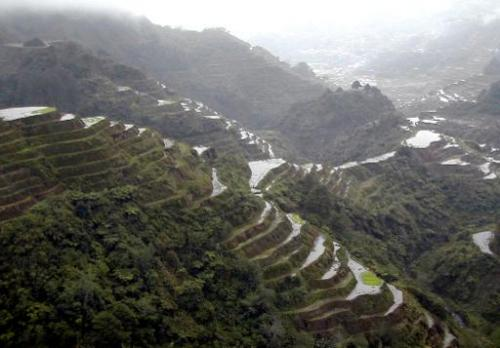This file photo shows Banaue rice terraces, pictured on February 23, 2003