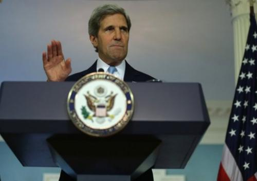 US Secretary of State John Kerry, pictured August 30, 2013 in Washington.
