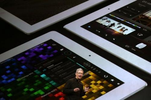 Apple CEO Tim Cook presents iPad Air, a new iPad mini with Retina display, at the Yerba Buena Center for the Arts in San Francis