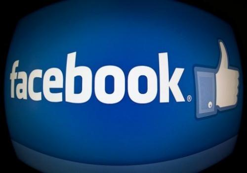 File picture shows the splash page for Internet social media giant Facebook