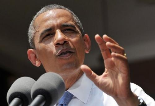 US President Barack Obama speaks on climate change on June 25, 2013 at Georgetown University in Washington, DC