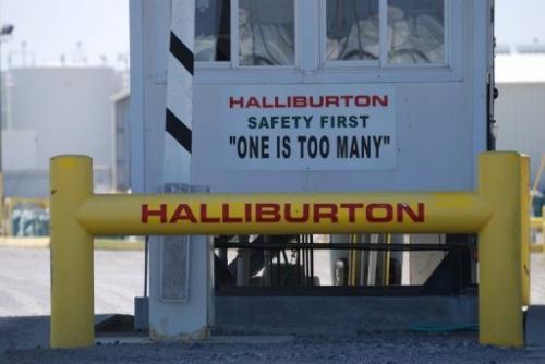 File picture shows a Halliburton facility in Port Fourchon, Louisiana