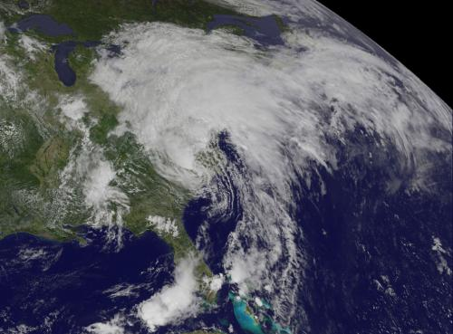 NASA sees Tropical Storm Andrea cover half the East Coast