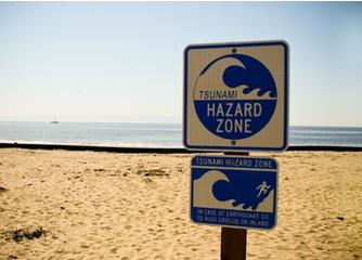 Acoustic waves warn of tsunami