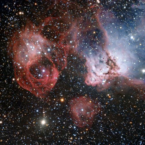 A fiery drama of star birth and death