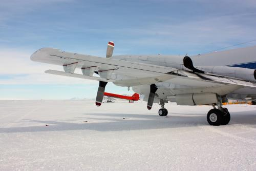 Airborne radar looking through thick ice during NASA polar campaigns