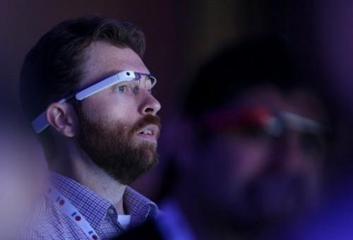 A man wearing Google Glass eyewear attends the Google I/O developers conference in California on May 15, 2013