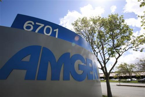 Amgen 1Q profit up 21 pct. on lower taxes