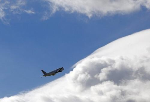 An Airbus A320 airplane takes off at Paris Roissy Charles de Gaulle airport on October 5, 2012