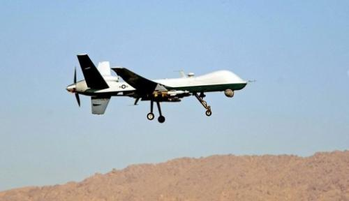 An Air Force MQ-9 Reaper takes off March 13, 2009, from Kandahar Air Base, Afghanistan