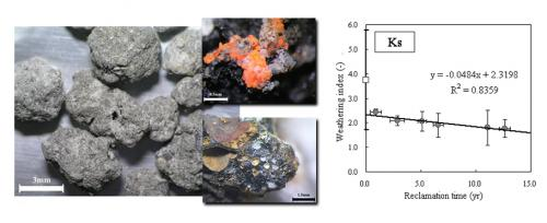 Analysis of weathering of solid waste incineration ash evaluated by indices for natural rock