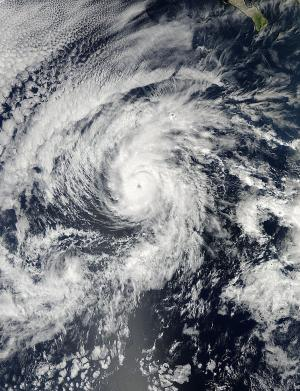 An eye-opener: NASA sees Hurricane Raymond reborn for a brief time