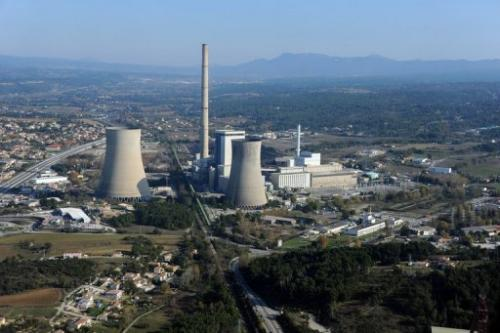 A partially coal-fired thermical power station in Gardanne, southern France, pictured on November 17, 2011
