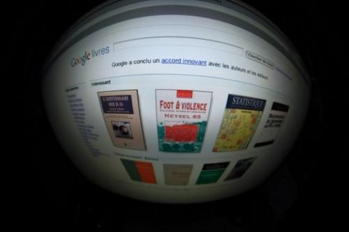 A picture taken on September 24, 2009 in Paris shows the screen of a computer featuring a Google Book search