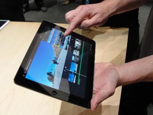 Apple's new iPad Air tablet is seen on October 22, 2013 in San Francisco, California