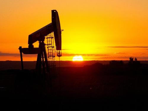 A pumpjack near Tioga, North Dakota, pictured on August 21, 2013