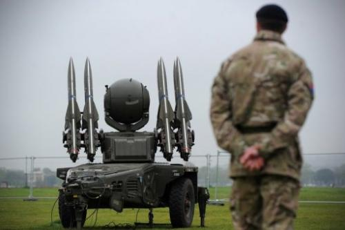 A Rapier missile defence system is deployed in London to provide air security for the Olympics, on May 3, 2012