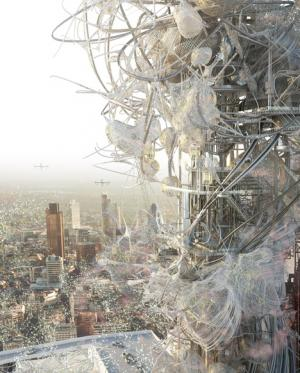 Architect imagines BT Tower as pollutant-scrubbing haven