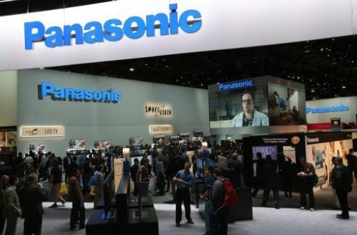 Attendees walk through the Panasonic booth during the 2013 International CES in Las Vegas on January 8, 2013