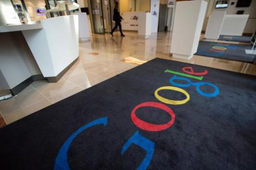 A view of the Google cultural hub in Paris on December 10, 2013