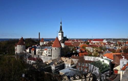 A view of the old city of Tallinn, taken on May 10, 2007
