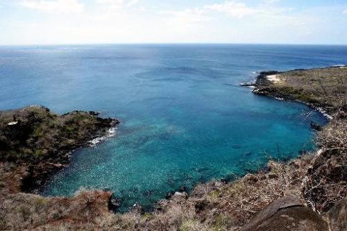 A view of Tijeretas Bay on San Cristobal Island in the Galapagos archipelago, Ecuador, taken on May 23, 2006