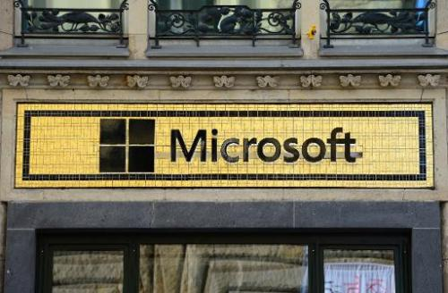 """A window of the """"Microsoft Berlin"""" venue on November 5, 2013 in Berlin"""