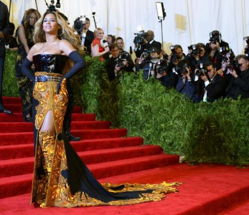 Beyonce Knowles attends the Costume Institute Benefit at The Metropolitan Museum of Art, May 6, 2013